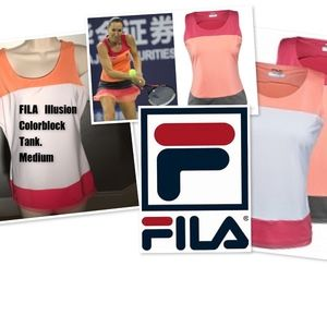 FILA illusion Colorblock Tank. Size Medium Tennis
